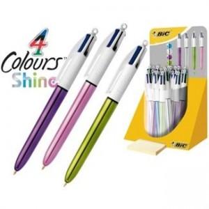 Bolígrafo bic 4 colores shine