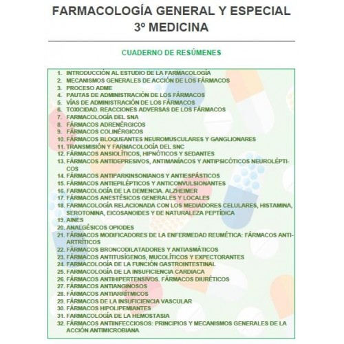 FARMACOLOGÍA GENERAL 3º MEDICINA