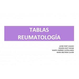 TABLAS REPASO REUMATOLOGÍA - (35 PÁG) - (Leyre)